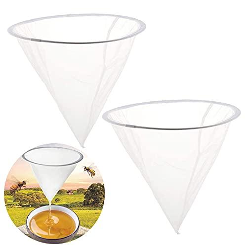 Filtro de miel, colador, red, accesorio para apicultura de abejas, herramienta para procesamiento de miel, filtro embudo y tamiz set para 2 unidades