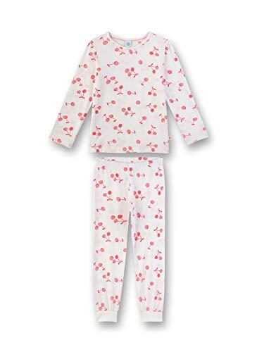 Sanetta Mädchen Pyjama lang Zweiteiliger Schlafanzug, Beige (beige 1427), (Herstellergröße:140)