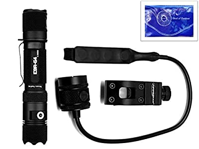 PowerTac E9R-G4 Tactical Weapon Package (Comes with Weapon Mount and Pressure Switch) Plus Deal of Outdoor Lens Cloth