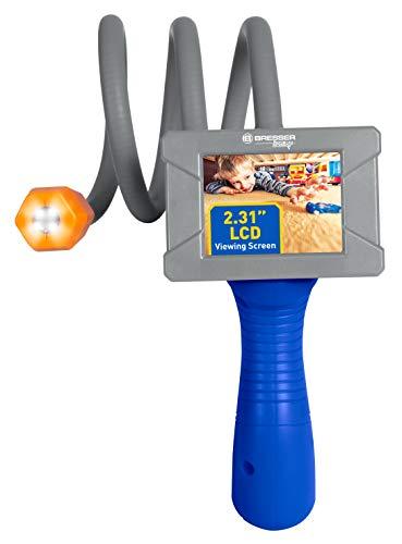 Bresser 8880850 Junior Entdecker-Fernrohr Endoskopkamera mit LED-Beleuchtung und Bildschirm