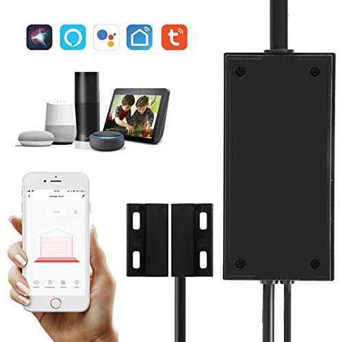 RYRA Smart Wi-Fi Garagentoröffner Controller, drahtlose Sprachsteuerung, kompatibel mit Alexa Echo Google, SmartLife/Tuya App