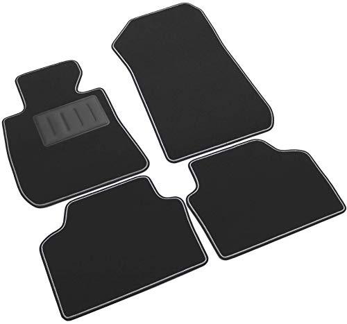 Il Tappeto Auto - Alfombrillas de moqueta para Coche, Color Negro, Antideslizantes, Borde Bicolor, talonera Reforzada con Goma, para Serie 3 E90/E91 2005 > 2011, cód. SPRINT00304