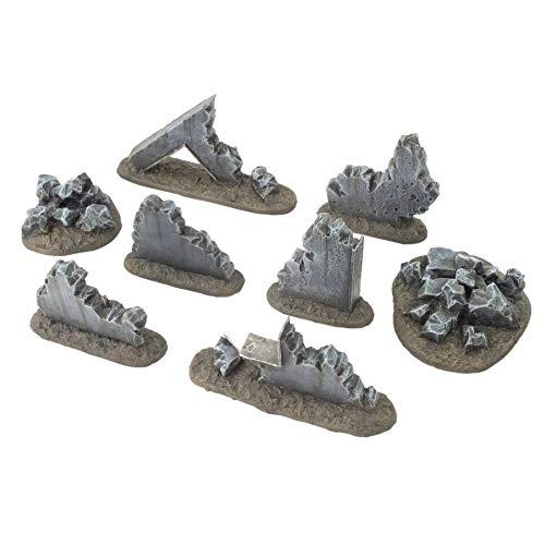 War World Gaming War-Torn City - Kit 2 Escombros - 28mm Escala Sci-Fi Wargaming Modelismo Dioramas Zombis Post Apocalíptico Bombardeado Destruido Wargame Minaturas