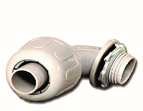 Anaconda Sealtite 500012-1-1/4' Sealtite to 1-1/4' NPT 90° Non-Metallic Type B Fitting, 2pc Package