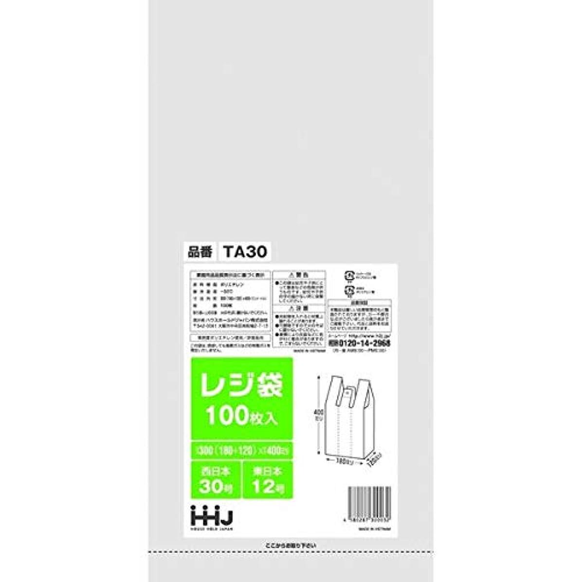 ウェーハいつか勇気のあるレジ袋 白 西日本30号 東日本12号 300(120)x 400mm 6000枚 エンボス加工 TA30