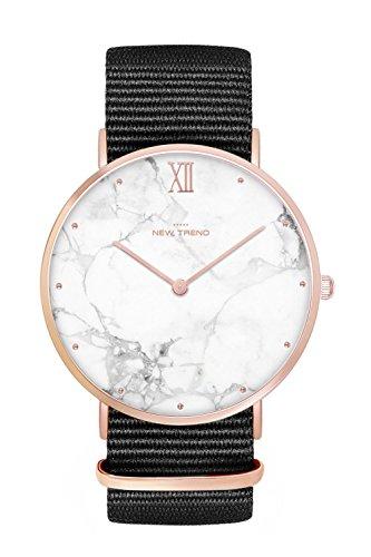 New Trend - Love for Accessories Damen Uhr analog Quarzwerk mit Nylon Armband SK-3KYQ-AVH4