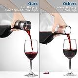 Glastal Wein Dekanter Kristallglas Dekantierer mit Eingebautem Aerator Belüften und Filtern, Tropffreies Eingießen 1800ml/63.3oz(Volle Kapazität) - 6