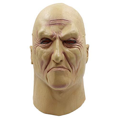 Leepesx Underworld Boss Scary Cosplay Full Head Maschera in Lattice Horror Divertente Cosplay Maschera per Feste Maschera per Casco da Uomo Vecchio