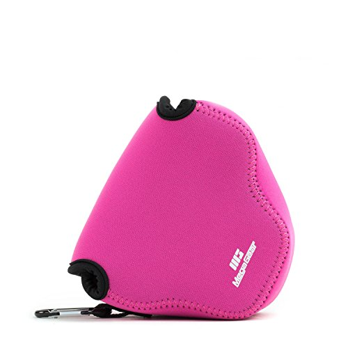 Megagear ''Ultra Light'' neoprene camera bag custodia con moschettone per Canon PowerShot SX540 HS, SX530 HS, Canon PowerShot SX420 is, SX410 is fotocamere digitali (Rosa)