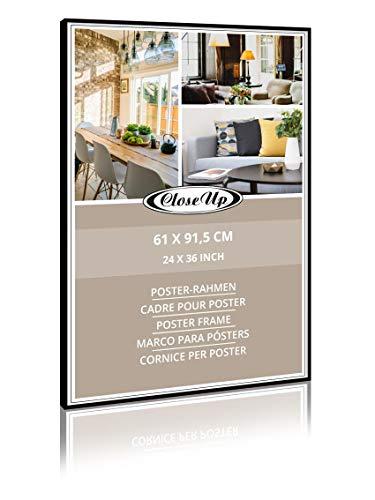 Close Up Alu Poster-Rahmen, Wechselrahmen, 61 x 91,5 - Schwarz matt