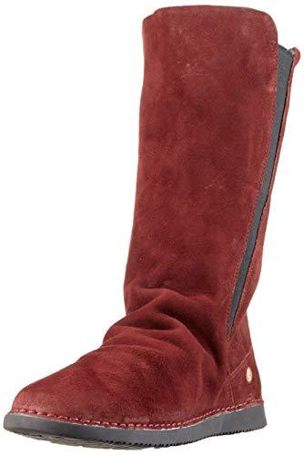 Softinos Damen TEYA328SOF Hohe Stiefel, Rot (Dk.Red 020), 35 EU