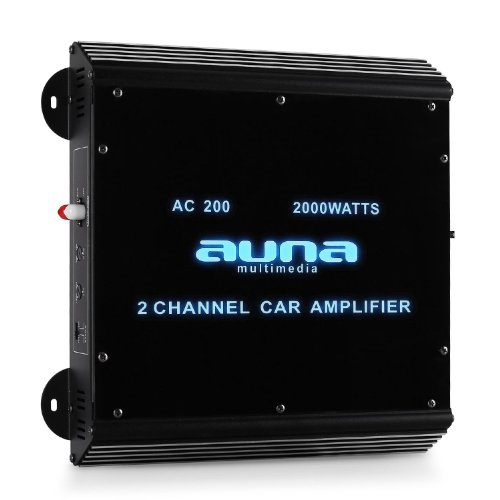 Amplificador Coche Auna W2-AC200 2 Canales LED. 2000