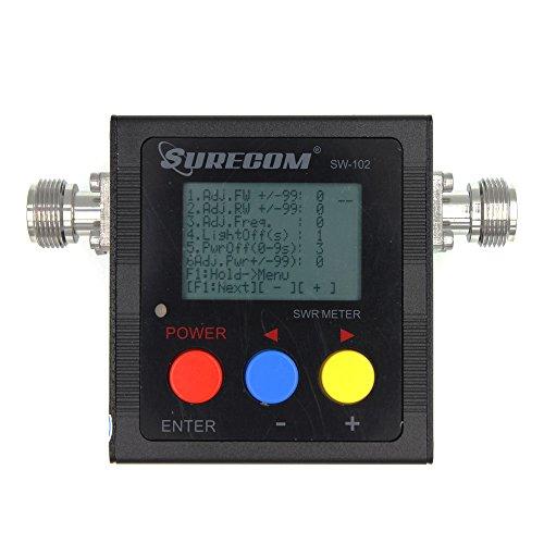 Surecom SW-102 125-525Mhz Digital VHF/UHF Antenna Power & SWR Meter+MF connector