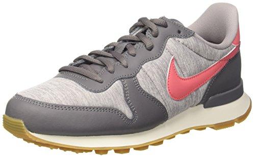 Nike Internationalist, Zapatillas para Mujer, Gris (Gunsmoke/Sea Coral-Atmosphere Grey-Sailor 020), 38 EU