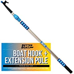 LONG REACH TELESCOPING BOAT HOOK: Our premium boat hook telescoping pole combo is a great value! This boat docking pole features an adjustable locking mechanism that can be set at custom lengths. This versatile telescoping pole with hook works great ...