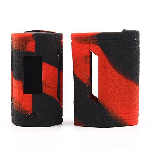 CEOKS Schutzhülle Silikon Hülle für Wismec Reuleaux RX GEN3 300W Sleeve Case Skin Cover Schützende Silikon-Hülle-Abdeckungs-Verpackungs-Haut für Wismec Reuleaux RX GEN3 300W Rot schwarz