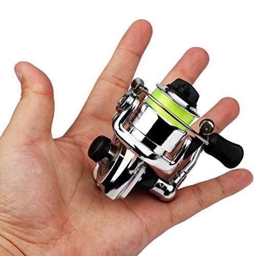 Urisgo Mini Spinnrolle Taschen-Aluminiumlegierungs-Angelgerät-kleine Spinnrolle für Karpfen Bass Forelle Süßwasser Salzwasser Angeln