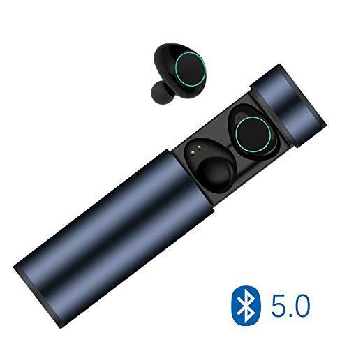 Cuffie Bluetooth 5.0, Auricolari Bluetooth Muzili TWS Leggeri Hi-Fi Cuffie Cancellazione Rumore,Auricolari Sport IP65, Earbuds con MIC per IOS e Android con Scatola Ricarica Portatile - Blu