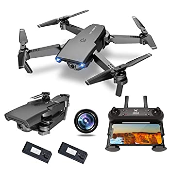 NEHEME NH525 Foldable Drones with 720P HD Camera for Adults RC Quadcopter WiFi FPV Live Video Altitude Hold Headless Mode One Key Take Off for Kids or Beginners with 2 Batteries