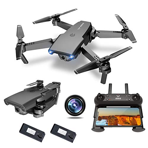NEHEME NH525 Foldable Drones with 720P HD Camera for Adults, RC Quadcopter WiFi FPV Live Video, Altitude Hold, Headless Mode, One Key Take Off for...