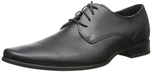 Calvin Klein Men's Brodie Oxford Shoe, Black Burnished Dress Calf, 9 Medium US