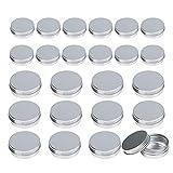 24 pcs lata aluminio vacio LANMOK hacer labio Ungüento de dos diferente de 30ml y 60ml para cosmetica, viajes almacenamiento, aceite, etc