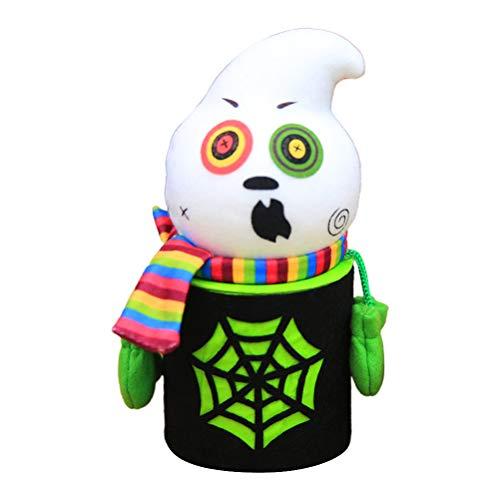 LeeBoom Halloween Keksdose Halloween Schwarze Katze Zombie-Geist Süßigkeit Keks Schachtel Süßigkeiten Storage Jar