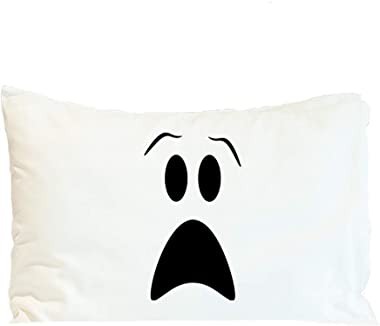 Style In Print Pillow Case Ghost Face Halloween A Holidays and Occasions Holidays and Occasions Polyester Home Decor Bed Pill