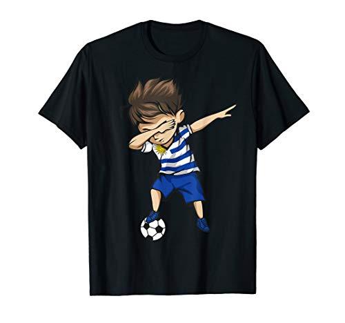 Dabbing Soccer Boy Uruguay Jersey Shirt - Uruguayan Football
