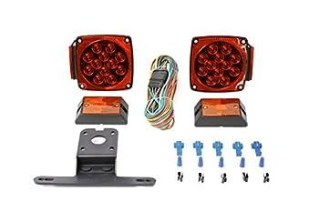 MAXXHAUL 70205 12V All LED Submersible Trailer Light Kit  Red