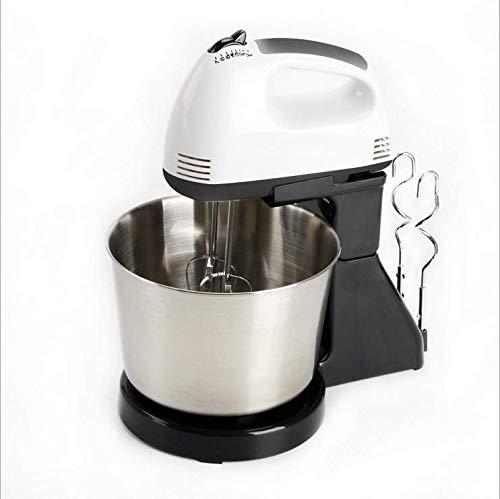 Handheld elektrische melkopschuimer 7 versnellingen Verstelbare roestvrijstalen elektrische eiklopper met 2 gardes staafmixer voor koffie, melk, ei, drinken