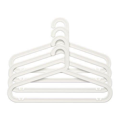 IKEA BAGIS Kleiderbügelset in weiß; 4tlg.