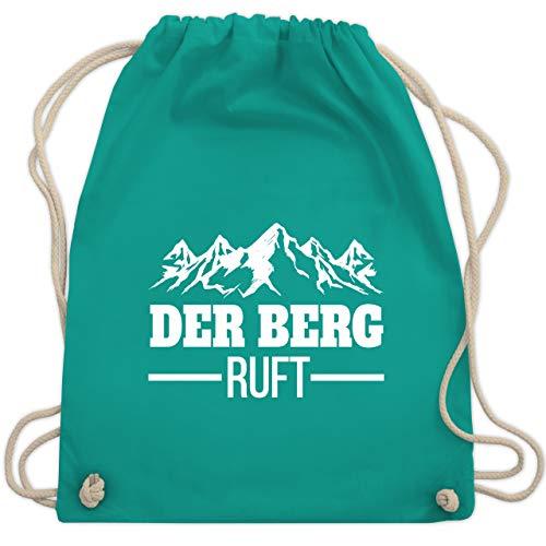 Après Ski - Der Berg ruft - weiß - Unisize - Türkis - Berge - WM110 - Turnbeutel und Stoffbeutel aus Baumwolle
