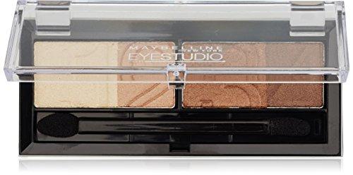 Maybelline Eyestudio Quattro Lidschatten Nr. 5 Glamour Browns, 4 optimal aufeinander abgestimmte Farben, für ein professionelles Schmink-Ergebnis, mit ultra-feinen, schimmernden Farbpigmenten, 5 g