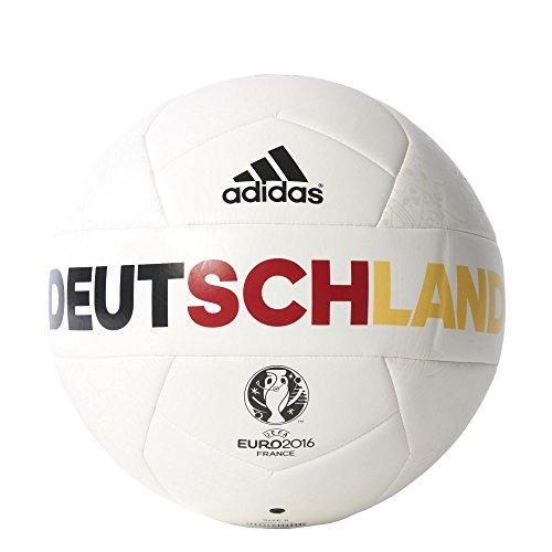 adidas Herren Ball EURO 2016 OLP Deutschland Capitano, White/Eqt Yellow/Power Red, 5