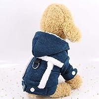 防水冬のペット犬服ウォーム綿子犬ペットコートジャケット小中犬チワワヨーキーパグジャンプスーツ服 (XL,14)