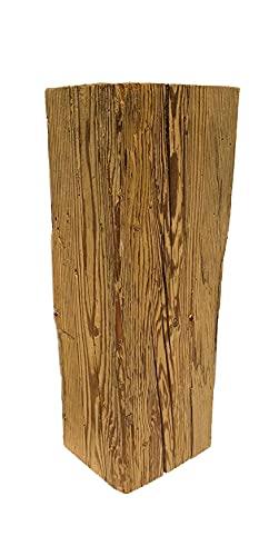 TRAPP Holzblock aus Altholz Balken 16x12x40cm (ca. 100-300 Jahre altes Holz) DIY - Deko Sockel - Holzsäule Vintage - aus Österreich - Blumensäule - Windlichtsäule - OHNE Dekoartikel