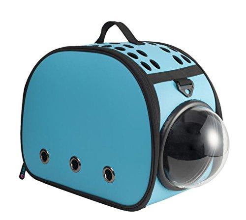 Petparty Fashion Cat & Dog Carrier Handbag Cat Dog Purse Tote Bag Pet Cat Dog Hiking Backpack (Space X Blue)