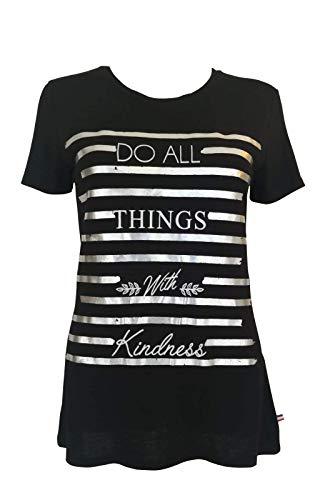 T-Shirt Femme Manches Courtes Vêtement Top Haut Col-Rond Made in France Grandes Tailles Mode Ete Chic Imprimé Do All (XL)