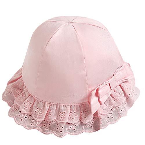 luoluo Meisjes zonnehoed, kant vishoed voor 0-5 jaar baby meisjes zomermuts met kinriem, UV-bescherming hoed prinsesmuts voor strand, outdoor, kamperen, wandelen, vakantie