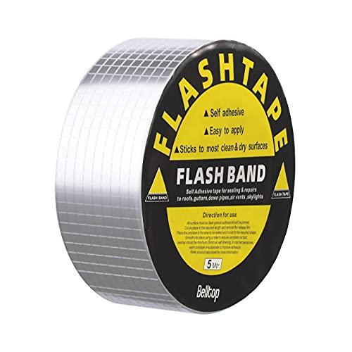 Selbstklebendes wasserdichtes Butylband - Superstarkes Aluminiumband für Lecks oder Risse 55mm x 5 Meter
