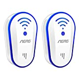 [2019 Upgraded ] Ultrasonic Pest Repeller, Aerb 10W Plug-in Insect Repeller, 2 Pack