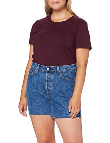 Levi's Plus Size Womens PL 501 Original Denim Shorts, Charleston Erosion, 16