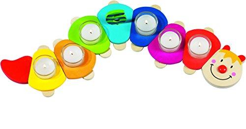 cama24com Geburtstagsraupe aus Holz von goki Kindergeburtstag Dekoration mit Palandi® Sticker