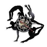 wtnhz Reloj de Pared con Disco de Vinilo LED Reloj de Pared con Disco de Vinilo para Reloj De Pared De Vinilo Musical Reloj Colgante Vintage Decoración de Arte