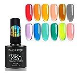 Major Dijit Jelly Glass Gel Nail Polish Set 8ML 12 Colors