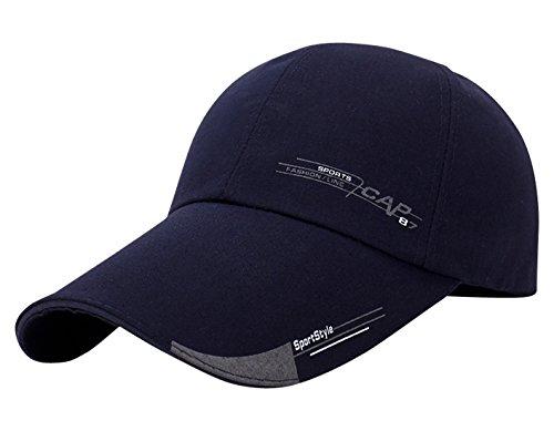 AIEOE Canvas Snapback Cap Klassische Kappe Verstellbar Baseball Cap Trucker Cap - Navy Blau