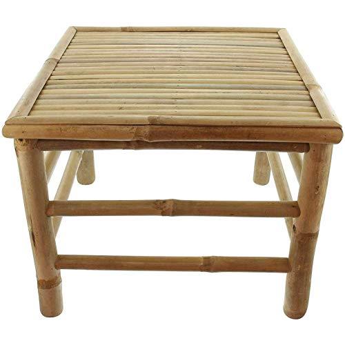 SIDCO Beistelltisch Bambus Tisch Outdoor Bambustisch Holztisch klein Gartentisch 47x47