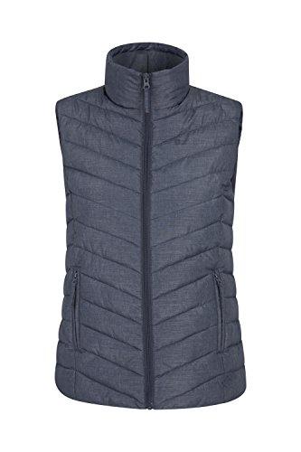 Mountain Warehouse Windemere Gepolsterte Damenweste - Körperwärmer für mehr Wärme, Taschen, Damenweste mit durchgehendem Reißverschluss - Für Reisen im Winter, Camping Marineblau 56