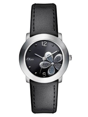 s.Oliver Damen-Armbanduhr Casual XS Analog Quarz Leder SO-2481-LQ
